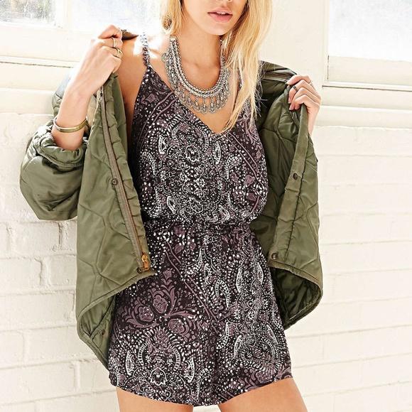77d0641f35e Urban Outfitters Ecote Leah Crochet T Back Romper. NWT